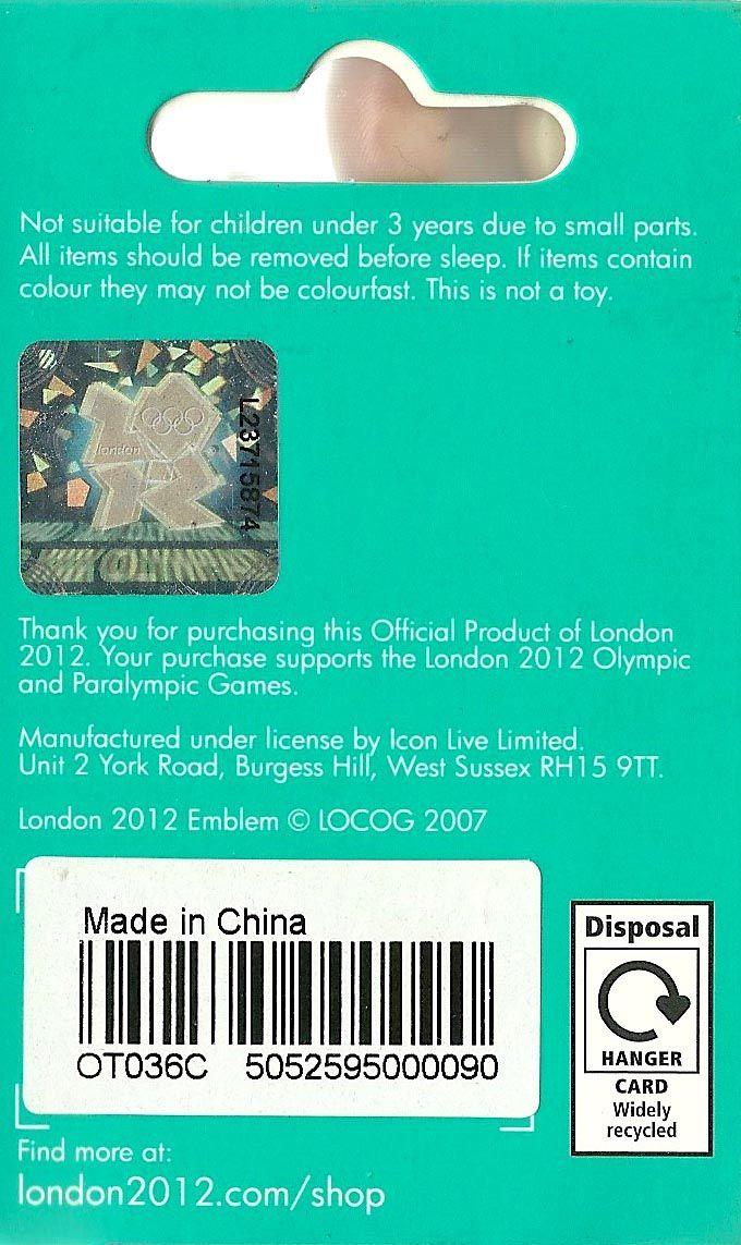 Упаковка от браслетов. Справа снизу стоит знак (характерный для Великобритании), что упаковку легко можно сдать в переработку, поскольку это широко доступно по всей стране