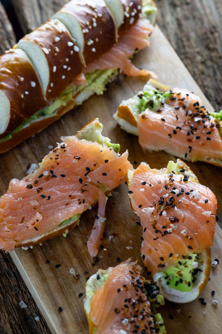 Laugenstange mit Lachs & Avocado – mein perfekter …