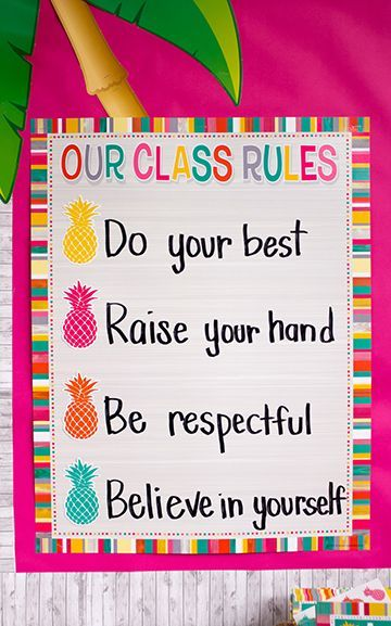 Tropical Punch Our Class Rules Chart | Classroom decor ...