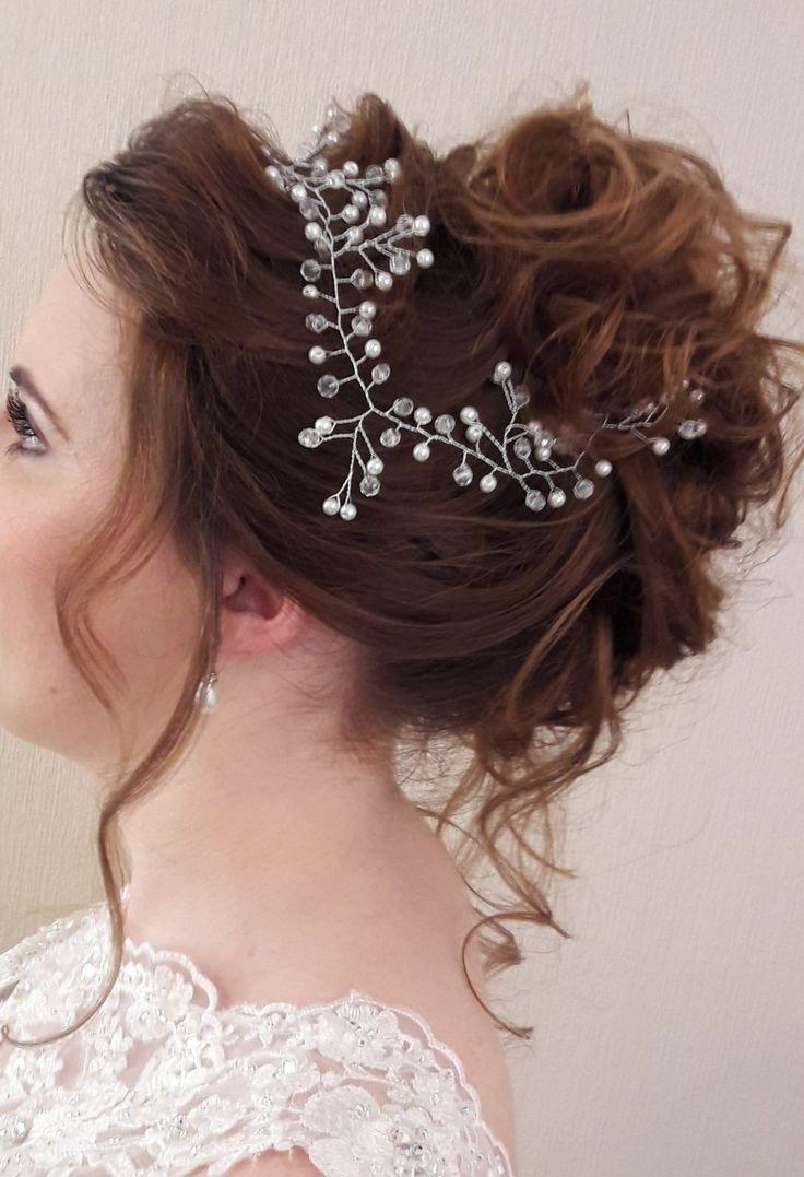 Beautiful romantic boho hair up