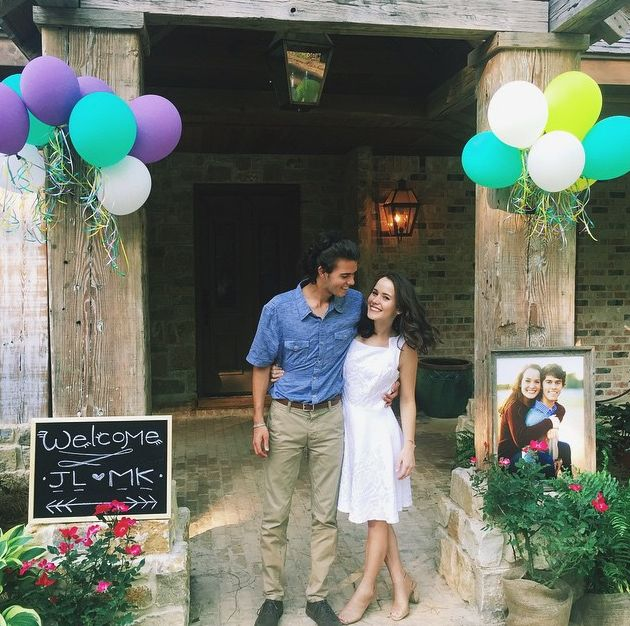 John Luke Robertson and Mary Kate McEacharn at pre-wedding festivities. (Instagram)