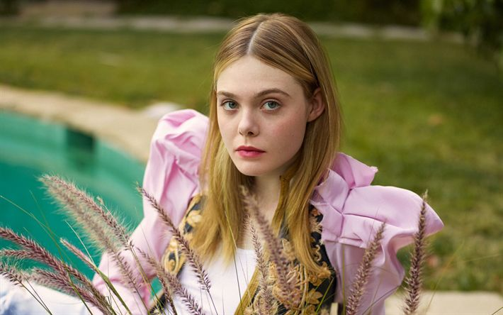 Download wallpapers Elle Fanning, 2017, Elle, american actress, Hollywood, beauty