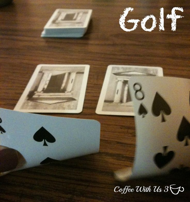 Golf a Card Game by Coffee With Us 3 / Scoring low makes you a winner #kids #games