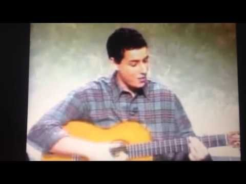 Adam Sandler sings the Turkey Song ~ Written by Adam Sandler, Manchester, NH USA native, and Ian Maxtone-Graham and Robert Smigel.   It was first performed during the Weekend Update segment of the season 18 episode of Saturday Night Live on November 21, 1992.