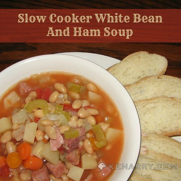 slow cooker white bean and ham soup bean and ham soup ham and beans ...