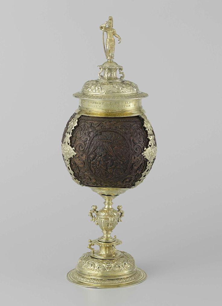 Kokosnootbeker met montuur van verguld zilver, Evert Willems, 1609
