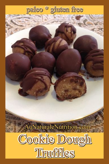 To Die For! Chocolate Chip Cookie Dough Truffles (paleo, gluten free, grain free, low-carb), By: www.aunaturalenutrition.com
