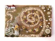 Bicicleta cu flori