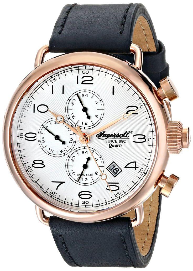 Gold watches : Ingersoll Men's INQ009SLRS Balfour Analog Display Japanese Quartz Black Watch