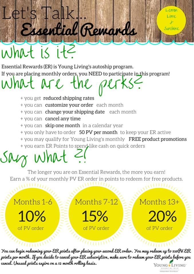 how to join essential rewards young living