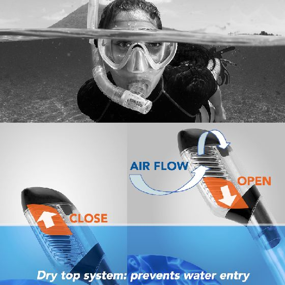 Cressi Supernova Dry Snorkel gear