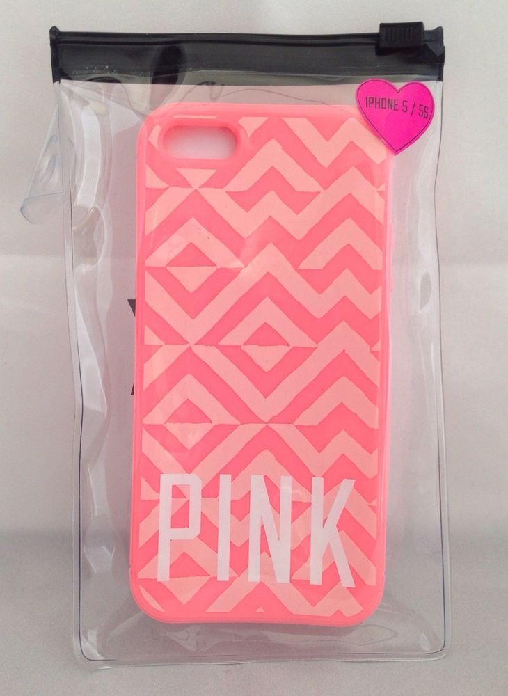 Authentic! Victoria's Secret PINK Aztec Coral Apple iPhone 5 5S Case Phone Cover NEW #VictoriaSecret #victoriassecretpink #pink #iphonecase