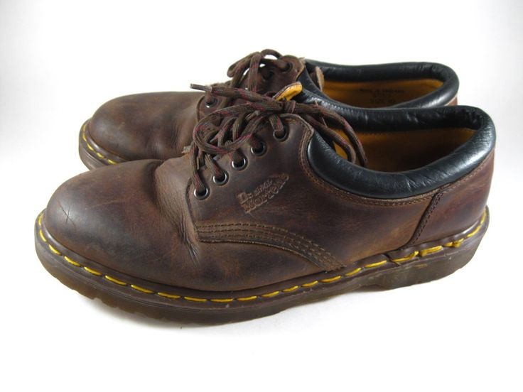 Clearance Sale--- Dr. Martens brown oxford sneakers shoes. Doc Martens leather lace up shoes. UK 10M / 10.5 US Mens / 12 US Womens by holdenism on Etsy https://www.etsy.com/listing/281027832/clearance-sale-dr-martens-brown-oxford