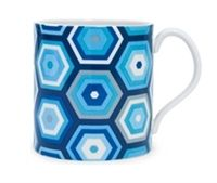 Jonathan Adler Carnaby Honeycomb Blue Mug