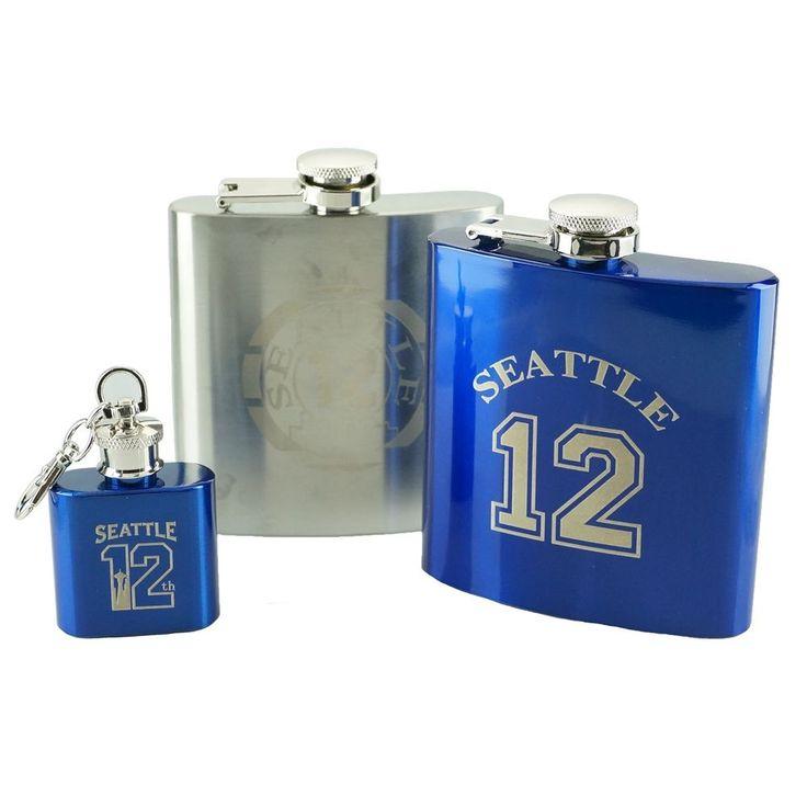 Seattle Football 12th Fan Stainless Steel Hip Flask #Seattle12