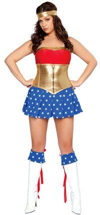 Deluxe Sexy Super heroína Plus tamaño trajes - superhéroe
