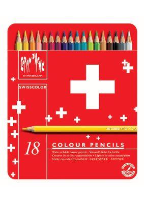 Caran D'ache Swisscolor Colouring Pencil Tin - 18pc