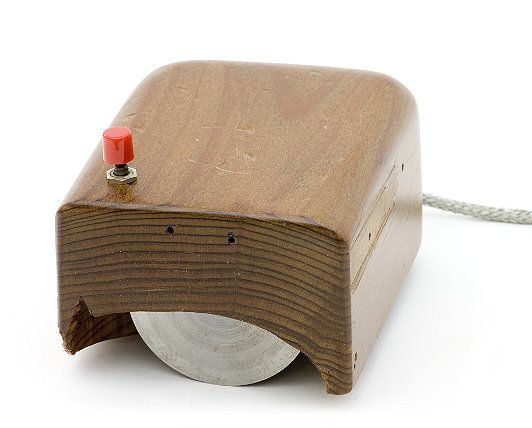 Bill English´s replica of the first computer mouse invented by Douglas Engelbart in 1963, which not made him a rich man by the way!