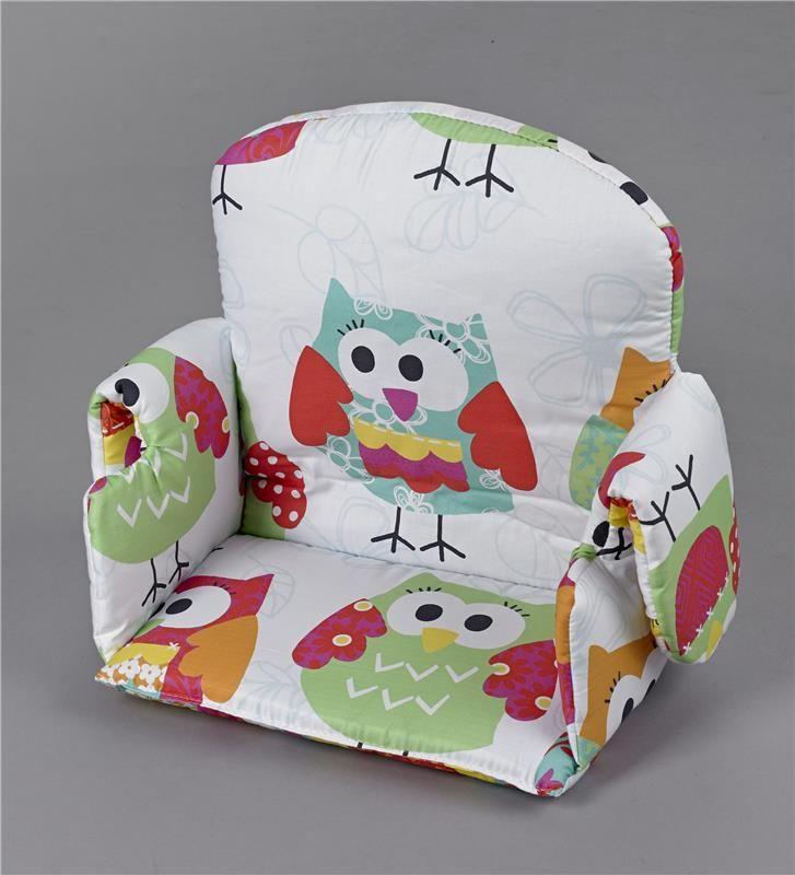 Coussin avec 2 oreilles pour chaise haute de bébé chouette - #Geuther - #BadBouille