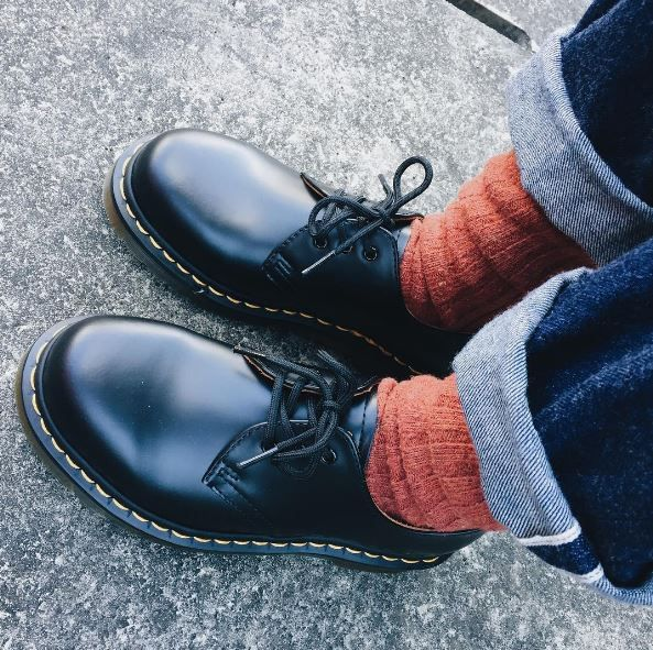 Docs and Socks: The 1461 shoe, shared by ________eliii.