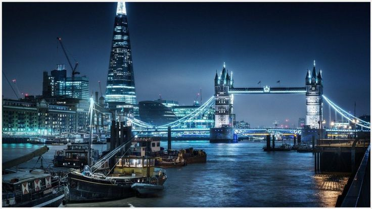 London At Night River Thames Bridge Wallpaper Bridge Wallpaper