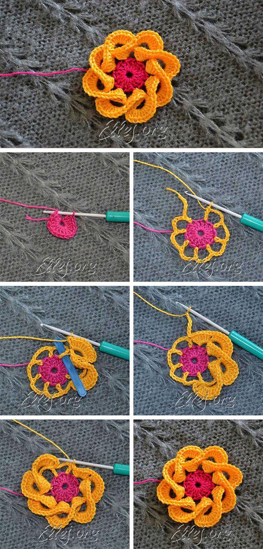 Multi Petals Crochet Flower Pattern