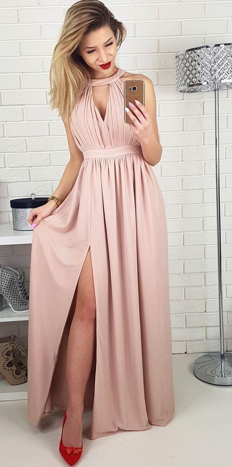 da7eb86d7b Długa sukienka dla druhny  na wesele Suknie Wieczorowe