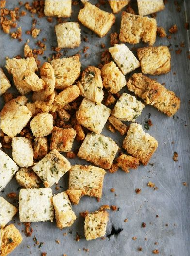 Simple instructions for making your own croutons.