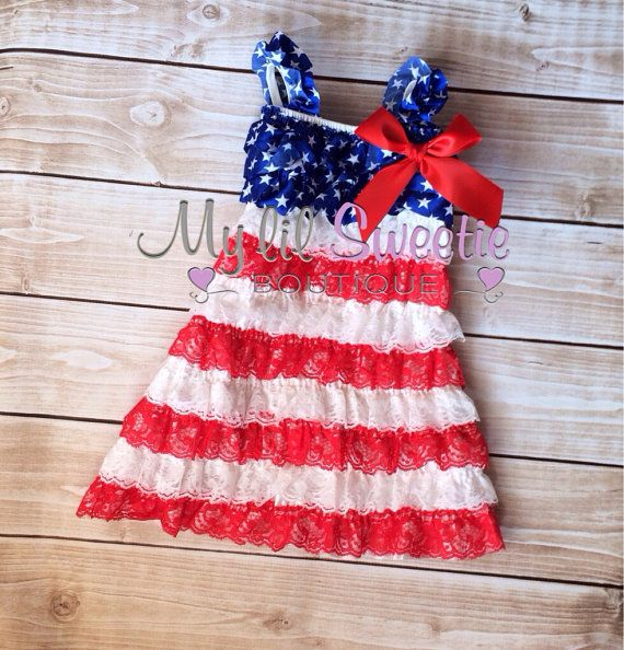 Sale Patriotic dress, 4th of July dress, Lace dress, baby girl outfit, infant dress, newborn dress, toddler dress, girls dress, on Etsy, $26.95