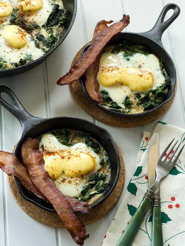 Gluten-Free Baked Eggs Florentine from Carol at Simply ... Gluten-Free.