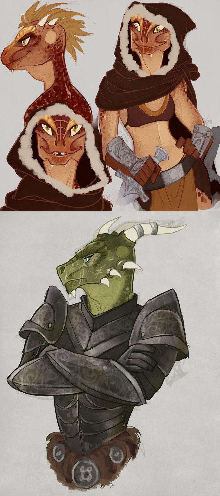 Skyrim Character Design Ideas : Anuma la and dalum ei by the orator elder scrolls