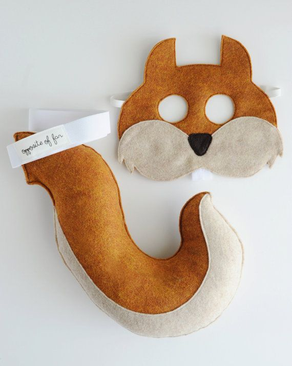 Squirrel Mask & Tail CHILD by oppositeoffar on Etsy, $38.00