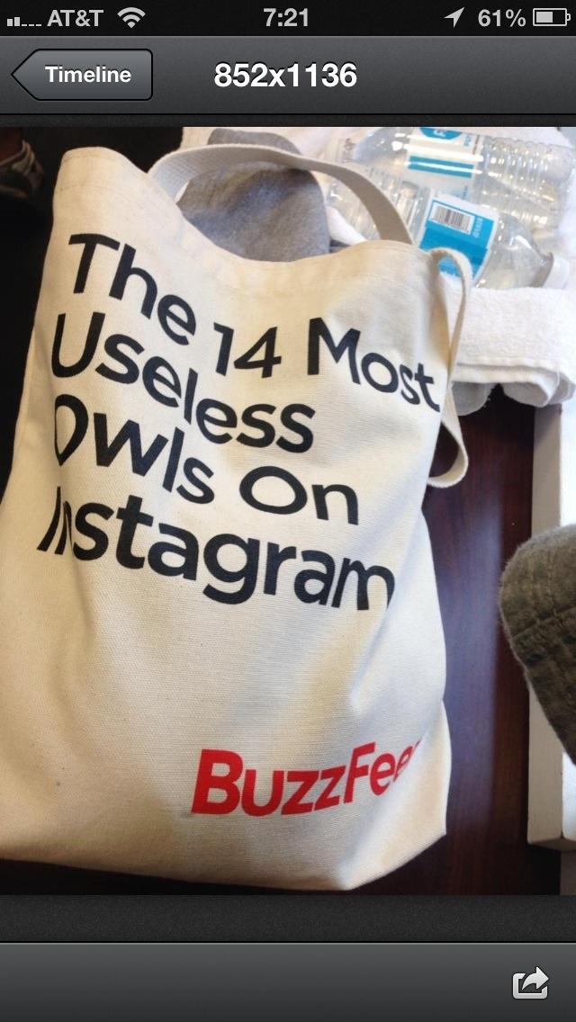 Buzzfeed bag. Fun stuf