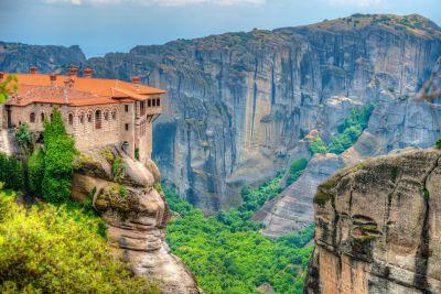 Fototapet 3D Stanci Meteora Grecia