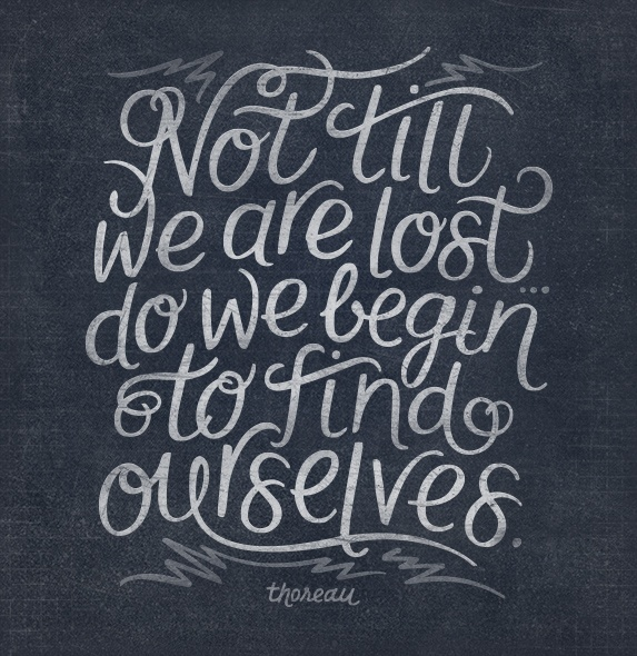 So being lost is good!
