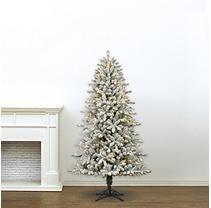 7' Member's Mark Artificial Pre-Lit LED Color-Changing Shelton Flocked Quick Set Simple Shape Christmas Tree