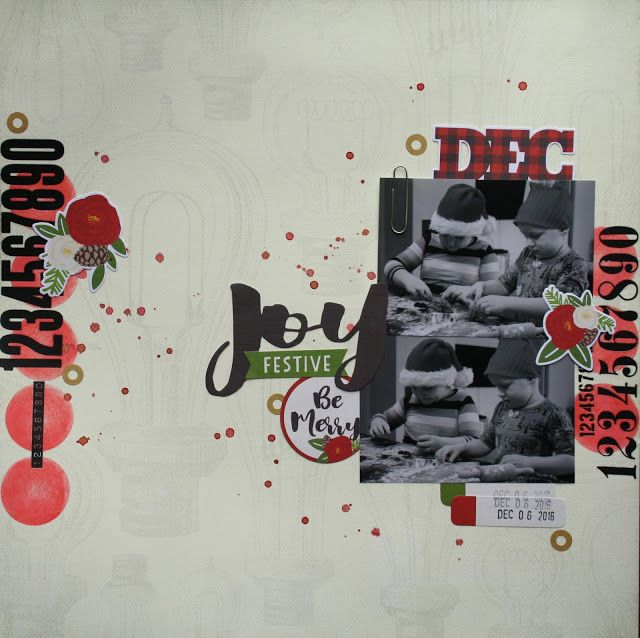 Scrapbook layout with a christmas theme