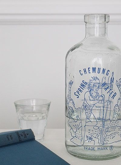 Image of Vintage Chemung Spring Water Bottle