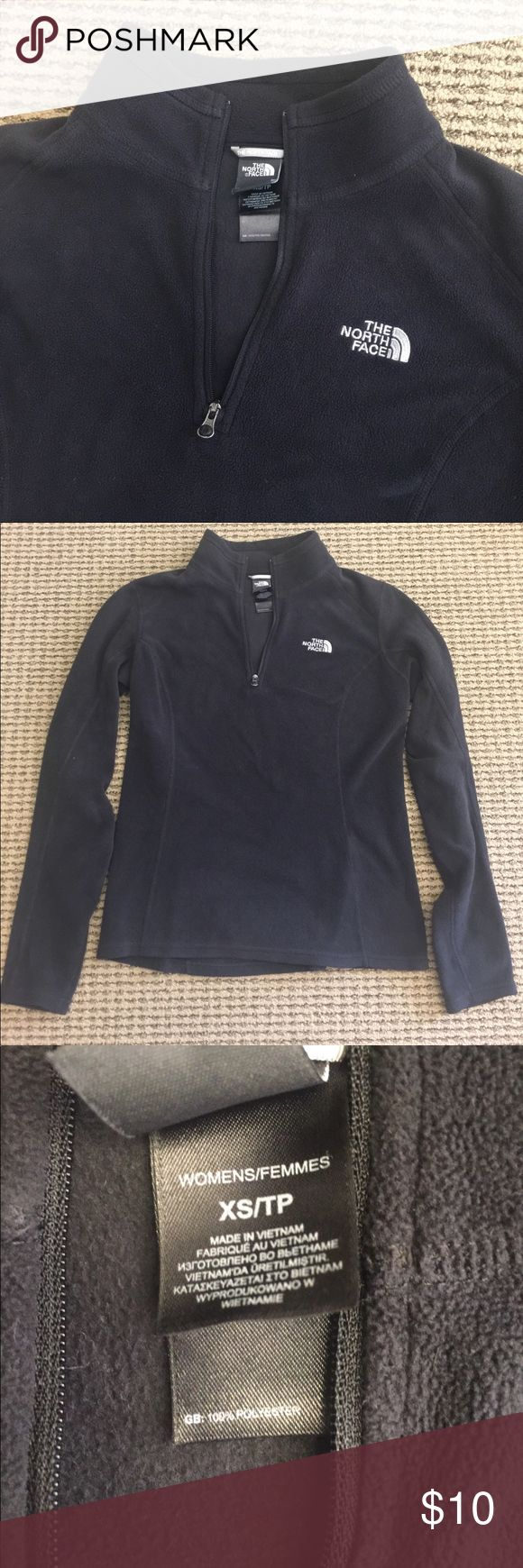 North face 1/4 zip fleece women's xs. Black North face women 1/4 zip fleece. Women's xs. Great used condition. Bundle for discount. North Face Jackets & Coats
