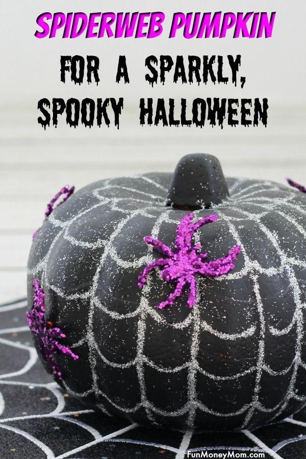 Easy No-Carve Spiderweb Pumpkin   Craft Community Board   Pinterest
