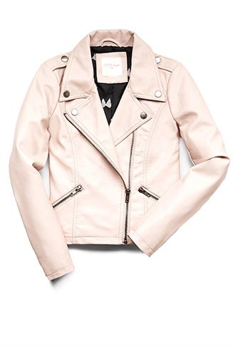 girls pink faux leather jacket | Gommap Blog