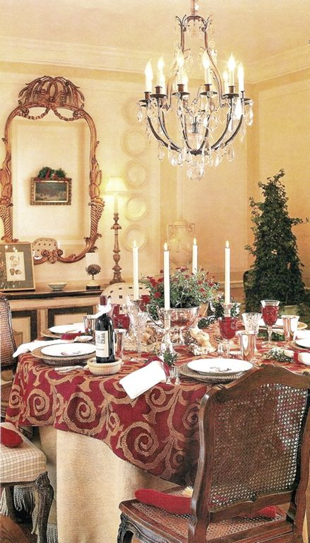 Designer Dan Carithers Atlanta Dining Room Set For Christmas Dining Rooms