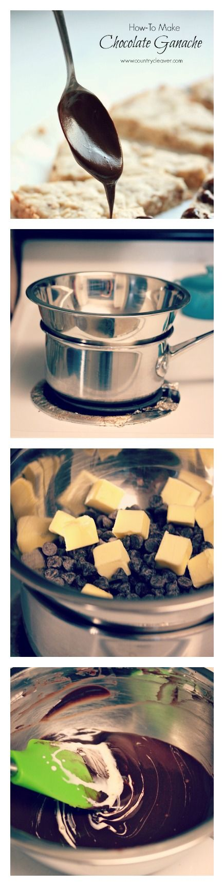 How to Make Chocolate Ganache - So Easy! from Country Cleaver