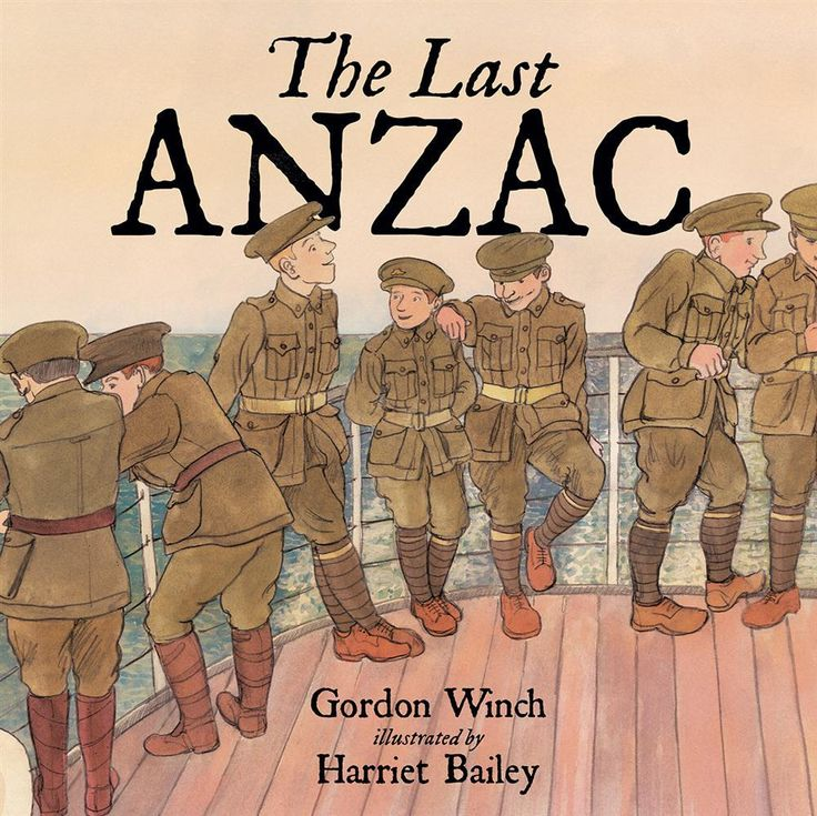 Gordon Winch (text), Harriet Bailey (illus.), The Last Anzac, New Frontier Publishing, 1 March 2015,  $24.99 (hbk), 32pp., ISBN 9781925059298 This is an account of the visit paid to the last surviving ANZAC Alec Campbell by James and his father in 2001. Alec enlisted as a sixteen-year-old having lied about his age. After timeRead More