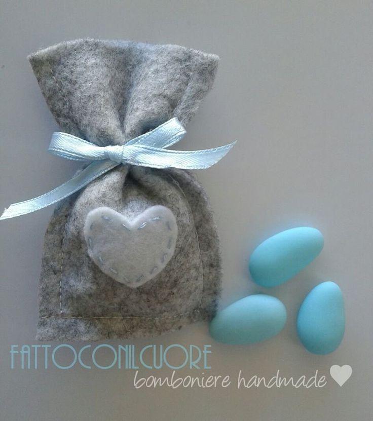 sacchetti bomboniere per nascita o battesimo, by fattoconilcuore, 2,40 € su misshobby.com