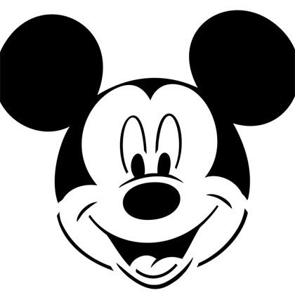 Pumpkin-Carving Template - Mickey Mouse (for t-shirts)
