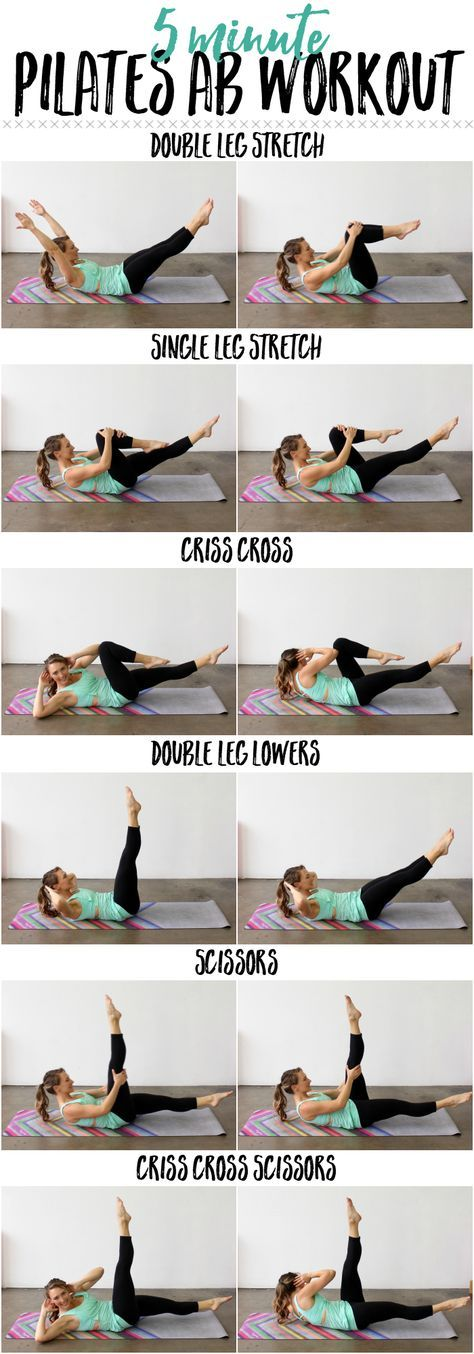 Whittle your waistline with this 5 Minute Pilates Ab Routine!