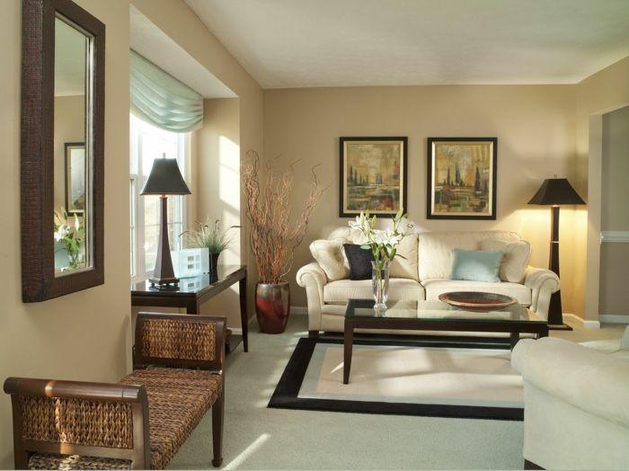 rot im wohnzimmer mutige wandgestaltungsidee kreative streich ... - Streich Ideen Wohnzimmer Braun
