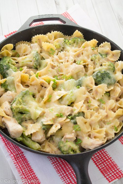 Chicken, Broccoli, & Pasta Skillet Casserole - Gal on a Mission