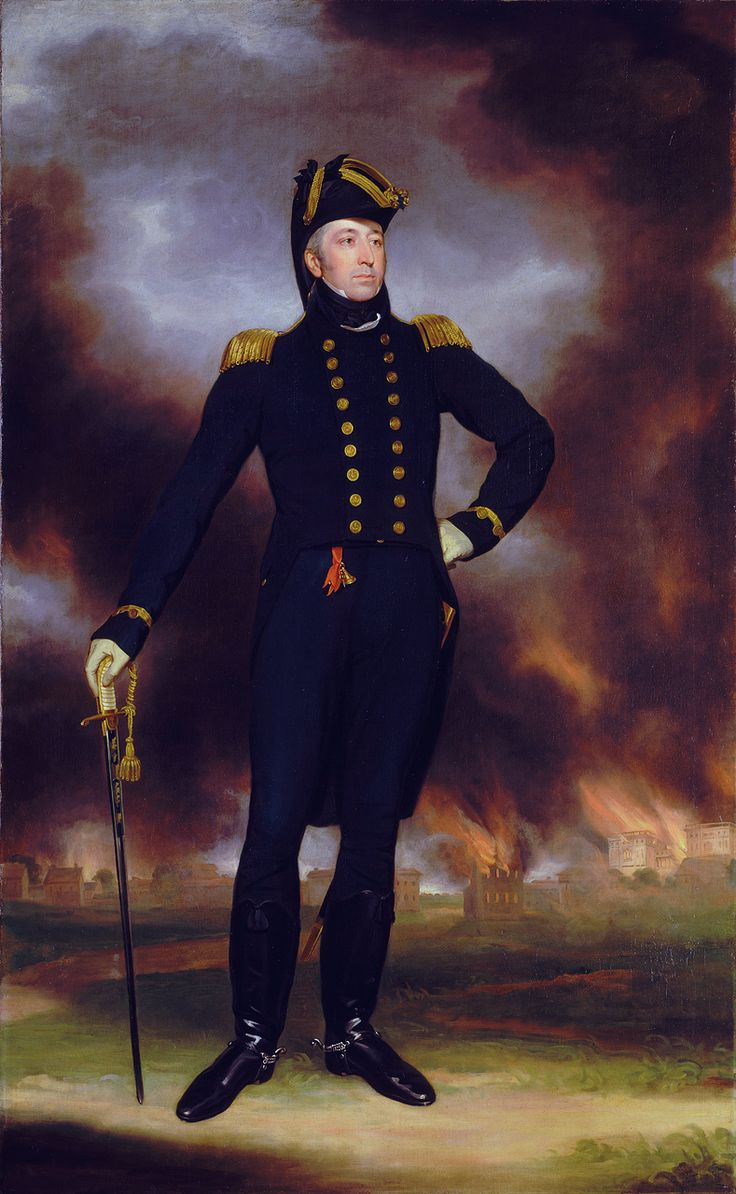 Rear-Admiral George Cockburn (1772-1853), by John James Halls - Sir George Cockburn, 10th Baronet - Wikipedia, the free encyclopedia
